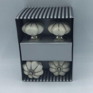 Set of 4 Ceramic Drawer Pulls Hardware White